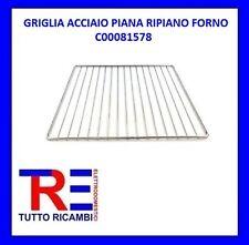GRIGLIA ACCIAIO PIANA RIPIANO FORNO ORIGINALE ARISTON HOTPOINT INDESIT C00081578