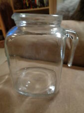 PITCHER CLEAR GLASS WATER JUG BORMIOLI ROCCO ITALY SQUARE 2 LITER (No Lid)