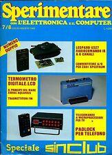 SPERIMENTARE#N.7/8 Luglio-Agosto 1983#Rivista Mensile Elettronica Elettrotecnica