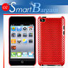 RED MESH Cover Case For iPod Touch 4G 4th Gen + Film