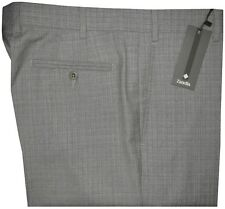 Zanella Men's Devon Dress Pants Gray Super 130's Wool 36 $365 NEW