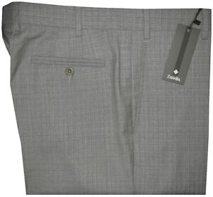 $365 NWT ZANELLA NORDSTROM DEVON MID GRAY SUPER 130'S WOOL DRESS PANTS 36