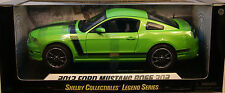 GREEN 2013 FORD MUSTANG BOSS 302 SHELBY 1:18 SCALE DIECAST METAL MODEL CAR