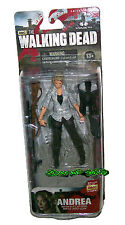 AMC THE WALKING DEAD SERIES 4 ANDREA WITH PICKFORK, RIFLE AND GUN ACTION FIGURE