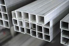 Barra Tubo Quadro in alluminio ANTICORODAL 15X15x2 mm lunga 1Metro Fresa/cnc