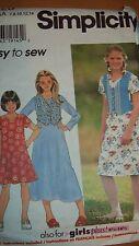 Simplicity 7223 Girls' Dress  - sizes 7- 14
