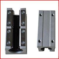 4pcs open pillow block SBR16UU with LM16UU bearing CNC linear slide guide rail