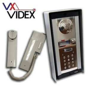 Videx 1-1 Audio AND Keypad Intercom (Model 8K-1S/CL)