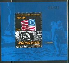HUNGARY-1989.Souv.Sheet - 1st Moon Landing (Space) MNH! Mi Bl.204