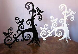 Jewellery tree stand / earring holder, ivory or black metal, modern, NEW.