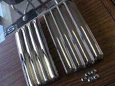 68 69 70 71 72 Nova new pair of chrome steel fender louvers embems