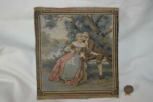 Miniature Dollhouse Antique/Vintage Rococo Era Wall Tapestry Made in France 1:12