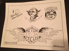 Vintage 1982 Spaulding & Rogers Flash Art Tattoo Sheet 352 N Star Wars Yoda More