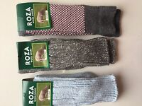 3 PAIRS LADIES WOOL HIGH QUALITY CHUNKY THERMAL SOCKS HIKE BOOT SIZE 4-7  BMJFM