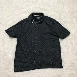 Nat Nast Button Up Shirt Mens Medium Black