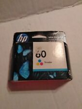 HP 60 TRI-COLOR NEW UNOPENED INK CARTRIDGE, EXP 09/2012, FREE SHIP.
