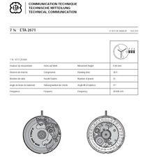 ETA 2671 Movemnet Cal. Communication Technical Manual Ebook Reader