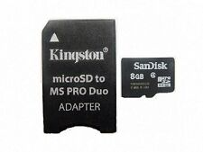 SANDISK 8GB MICRO SD + PRO DUO ADAPTER FOR PSP E1000 E1003 1000 2000 3000 3001