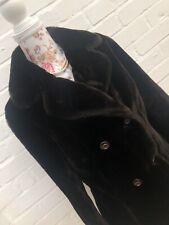 Vintage English Lady Faux Fur Coat Brown Size 16 Teddy Jacket Winter Blogger