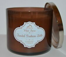 NEW BATH & BODY WORKS TOASTED GRAHAM LATTE SCENTED CANDLE 3 WICK 14.5 OZ LARGE