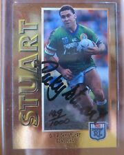 1994 Rugby League Dynamic Series 1 Gold Signature Card G1 Ricky Stuart Canberra