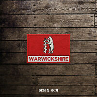WARWICKSHIRE Flag With Name Embroidered Iron On Sew On Patch Badge