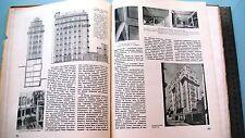 "1939 Russian USSR Avant-Garde Constructivism Magazine ""Architecture USSR"" Book"