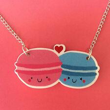 HAPPY Macarons collana Carino KAWAII FUN Kitsch ANIME JAPAN ECCENTRICO gioielli