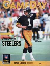 GAMEDAY PITTSBURGH STEELERS GARY ANDERSON DOLPHINS VS. STEELERS 11/26/89