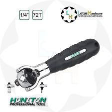 "Ratchet Handle Swivel Head CrMo Magnetic 2in1 Head 1/4"" 72teeth Honiton H-206"