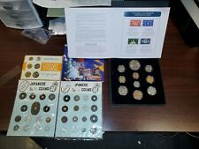Foriegn Coins Collectors Lot Israel Japan Euro Commemorative Stamps