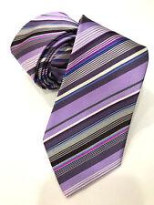 Paul Smith Multi-Rayures Tie Fait en Italie Très Rare Multi-Rayures Lame de 8cm