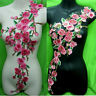 Rose Flower Motif Collar Sew on Patch Cute Applique Badge Embroidered Bust