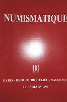 1990 Catálogo De Venta Demuestra Color Drouot Numismática