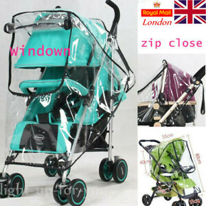Universal Baby Pushchair Stroller Raincover Rain Cover Pram Buggy Clear w Window
