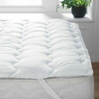 Extra Deep Quilted Mattress Topper Bed 100% Microfiber Single Double King Super