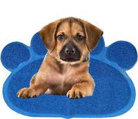 LARGE DOG PUPPY PAW SHAPE PVC PLACEMAT CAT PET DISH BOWL FEEDING FOOD MAT