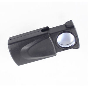 30X Magnifier Loop Magnifying Glass Jeweler Eye Loupe Lens LED Light Stylish