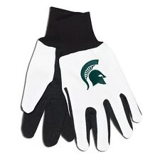 Michigan State Spartans Wincraft NCAA White/Green Cotton Jersey Gloves FREE SHIP