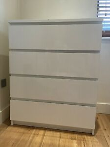 ikea malm chest of 4 drawers white