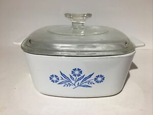 VIntage Corning Ware CORN FLOWER Casserole Dish A-11/2-B with Lid Corningware
