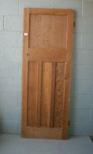 """Reclaimed 1930's 4 Panel Pine Door 75 3/4"""" x 28"""" Internal  ref 116A"""