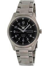 Seiko Men's 5 Automatic SNZG13K Black Stainless-Steel Self Wind Fashion Watch