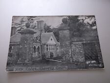 Clovelly Court:  New Lodge  Burrow & Car  Vintage Postcard (unposted)