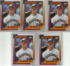 KEN GRIFFEY JR 1989 TOPPS DEBUT 5X ROOKIE CARD INVESTERS LOT MINT MARINERS