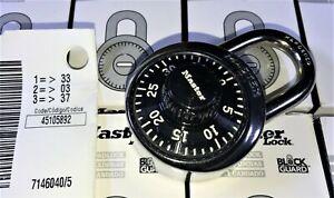 Master Lock 1525 Locker Combination Padlock (With Key Option) LOT OF 10,