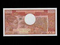 Congo:P-2d,500 Francs,1984 * Woman * UNC *