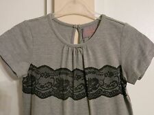 Creamie girls gray short sleeve party dress tulle lace NWT size 9y  134cm