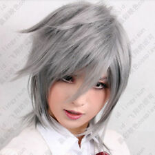 Final Fantasy Type-0 Seven Silver Grey Healthy Cosplay Costume Anime Wig+Hairnet