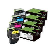 SET Lexmark Genuine 80C8SK0 80C8SC0 80C8SM0 80C8SY0 Toners For CX310 CX410 CX510